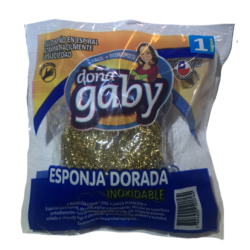 Doña Gaby Esponja Dorada Inoxidable